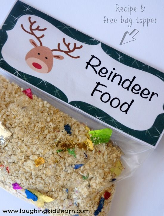 Reindeer food recipe reindeer food bag toppers and kids learning forumfinder