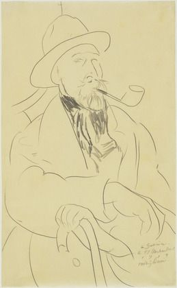 modigliani drawings | MoMA | The Collection | Amedeo Modigliani. Charles Guérin. November ...