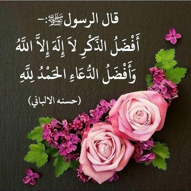 أفضل الذكر لا إله إلا الله أفضل الدعاء الحمد لله Photo Maroc Doua Islam Doua