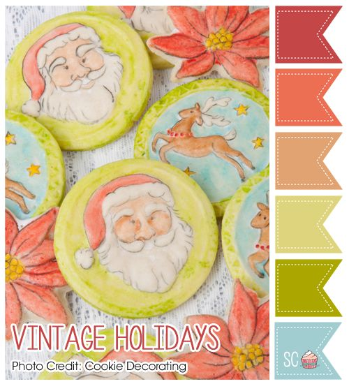 Vintage Holidays Color Palette - Inspire Sweetness  http://www.inspiresweetness.blogspot.com/2013/12/vintage-holidays-color-palette.html