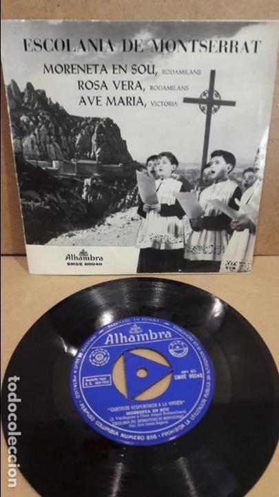ESCOLANÍA DE MONTSERRAT. CÁNTICOS VESPERTINOS A LA VIRGEN. EP / ALHAMBRA - 1963 / MBC. ***/***
