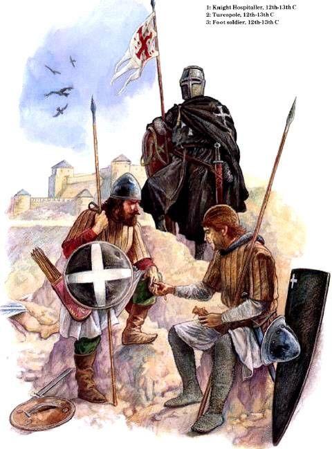 """""""Caballero Hospitalario, soldado Turco y soldado cristiano de a pie."""" Mundo Historia"""