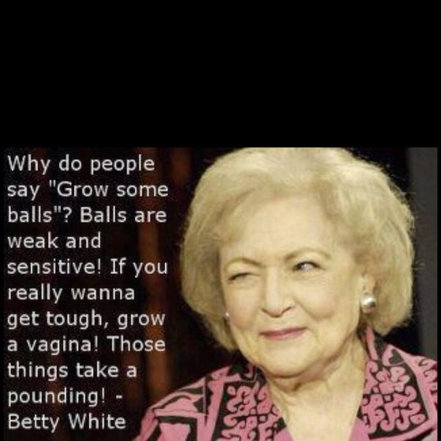 Sooo classic. Love a woman who says the things every one questions in their mind.