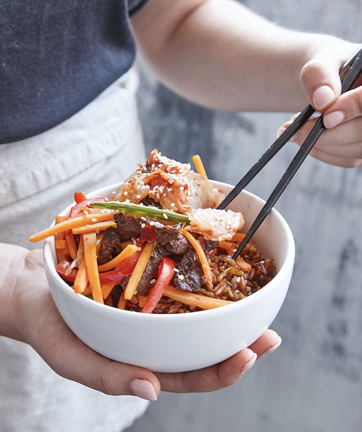 It looks like a stir-fry, it tastes like a stir-fry, but it's a whole lot easier and a lot less mess! The entire dish is steamed, making it fresh and light. It's also super speedy to make; if you start with boiling water you can have this delicious meal on the table in less than 20 minutes. + dairy