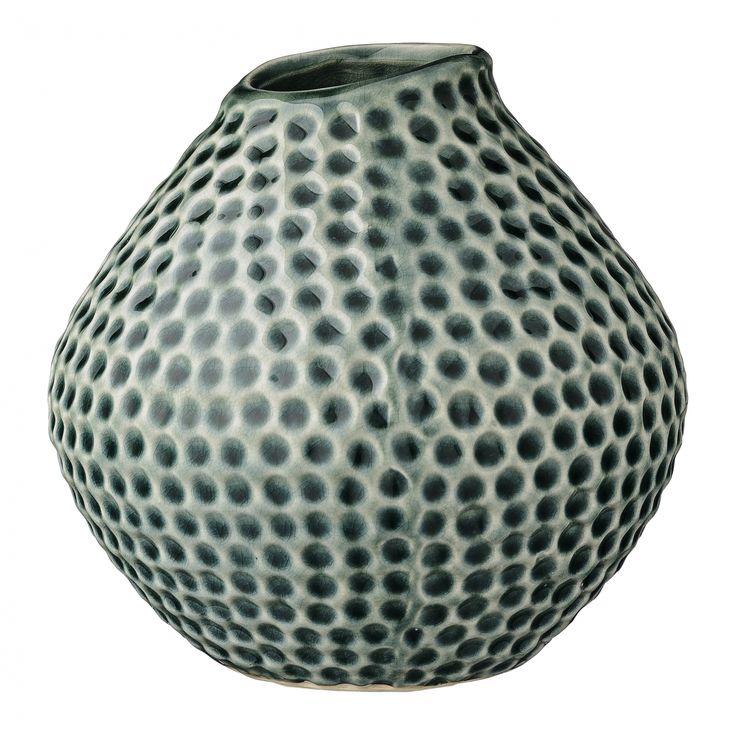 Porzellan-Vase Dark Green, von Bloomingville