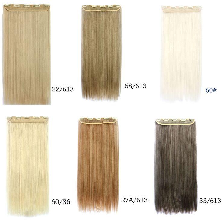 Una tarjeta gratuita de mezcla clip de recta en la extensión del pelo brizilian pelo pieza para mujeres de la manera larga de Europa y América