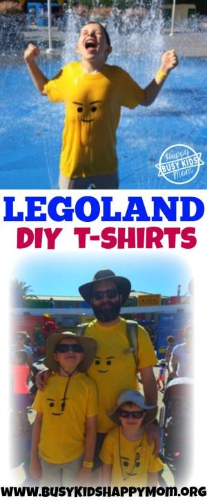Looking for a fun DIY Lego shirt to wear to LEGOLAND? This one is sure to get some attention!