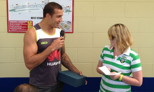 Blake Ferguson was joint winner of the 2012 Canberra Raiders Fans' Choice award, with Shaun Fensom.  The award is voted on by the readers of The Greenhouse on a 3-2-1 basis each week of the season.