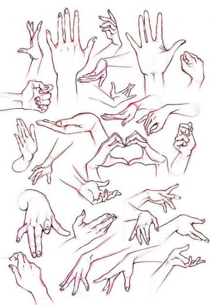 23+ Super Ideas For Drawing Poses Female Hands #drawing