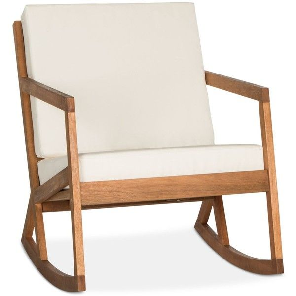 Nicksen Outdoor Rocking Chair, Quick Ship ($143) ❤ Liked Onu2026