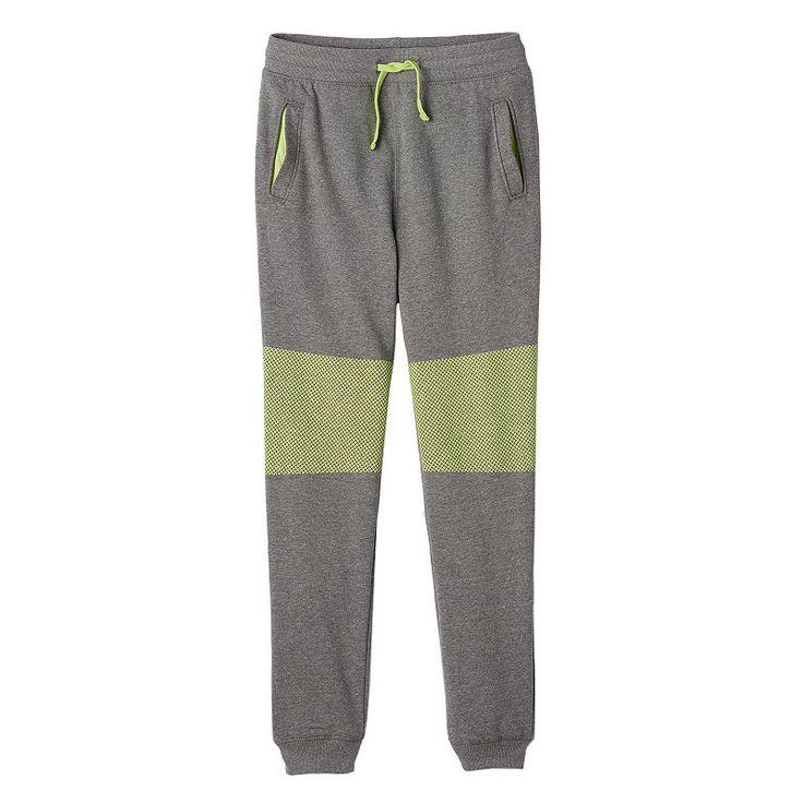 Boys 8-20 Hollywood Jeans Pull-On Fleece Jogger Pants, Med Grey