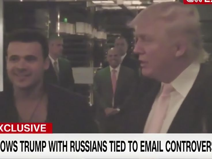 Footage from 2013 shows Trump meeting with key figures in email controversy - Video footage obtained by CNN shows Donald Trump attending a dinner with key figures in the email chain that may suggest collusion between the Trump campaign and the Russian government.  The footage, taken in 2013 in Las Vegas, shows Trump with Russian oligarch Aras Agalarov and  his pop-star son Emin, as well as Rob Goldstone, Emin's publicist. According to CNN, the video was shot prior to Trump announcing his…