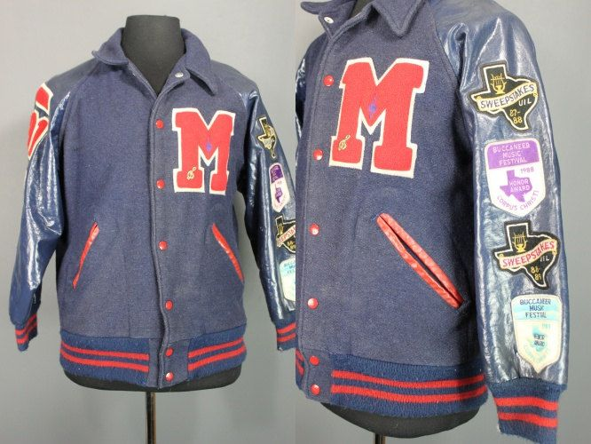 90's Letterman Jacket.....1991 Letterman Jacket With Music Patches by MyHeartShapedBox on Etsy