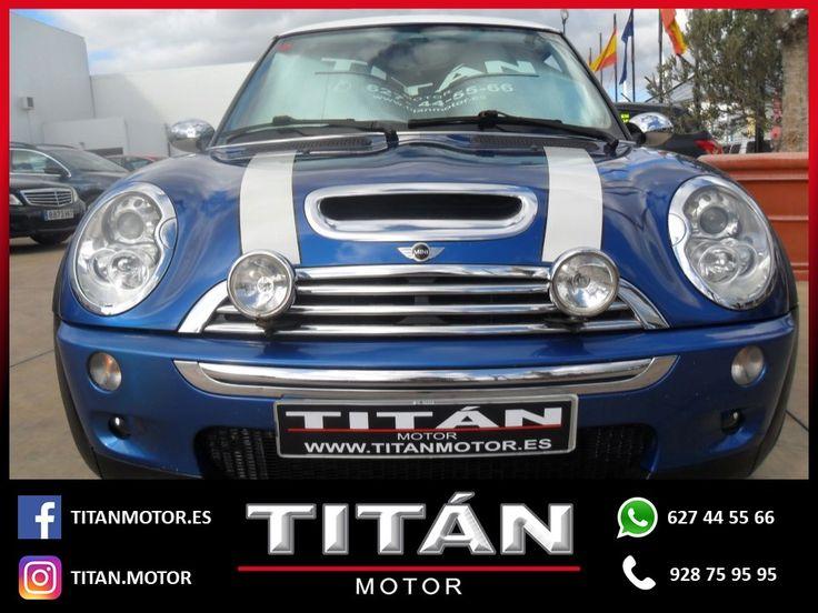 En Titán Motor tenemos para tí el Mini Cooper S. 📆Año: 2005 ⛽Combustible: Gasolina 🛣️Kilometraje: 151.800 Km 🔸Cambio: Automático 🔸Potencia: 170 CV 💶Precio: 10.900 EUR  Contáctanos 📱627 44 55 66 📞928 75 95 95