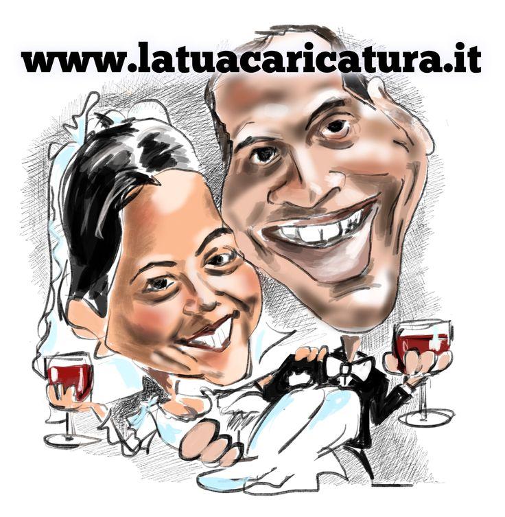 Una nuova caricatura per i novelli sposi! Auguri!!!