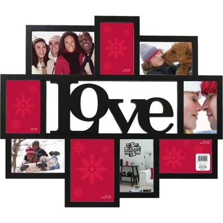 "Wagner ""Love"" 9 Opening Collage Frame, Black"