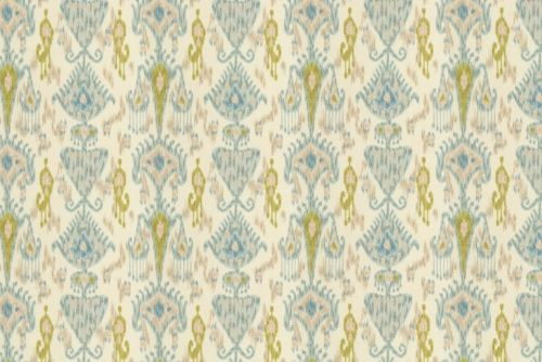 Ikat fabric from Calico Corners for headboard