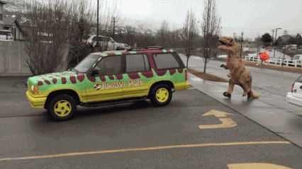 Jurassic Park without special effects