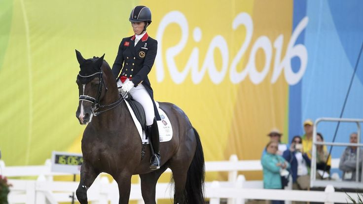 Great Britain win silver in team dressage