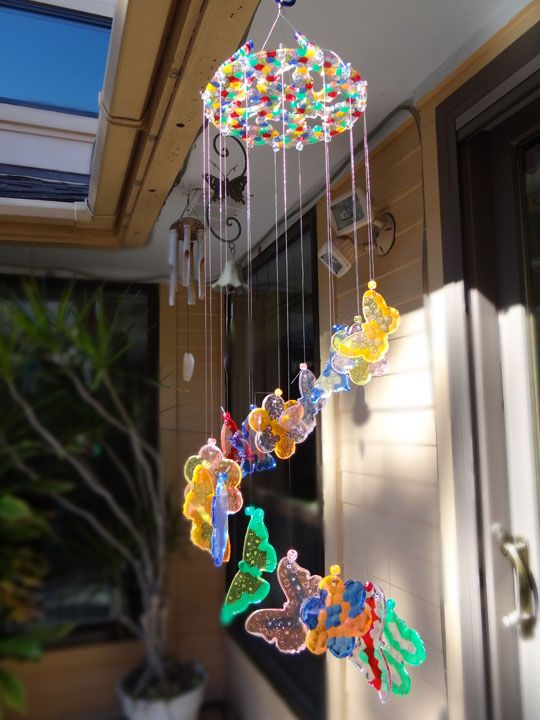 melted bead windchimes