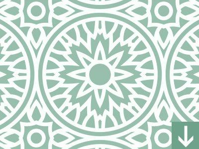 Round Mandala Seamless Pattern by Download Pattern
