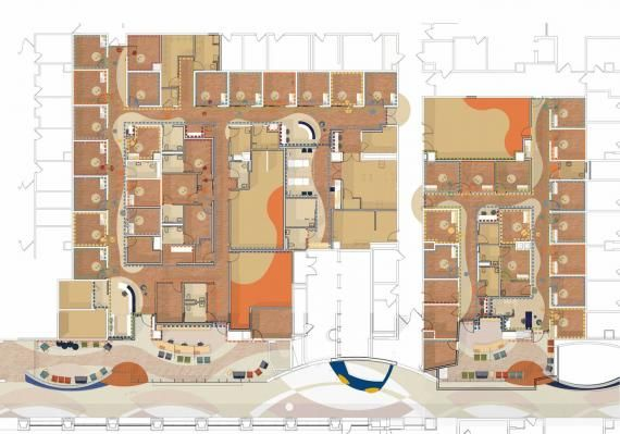 The Floor Plan For The Cbdi Outpatient Clinic At