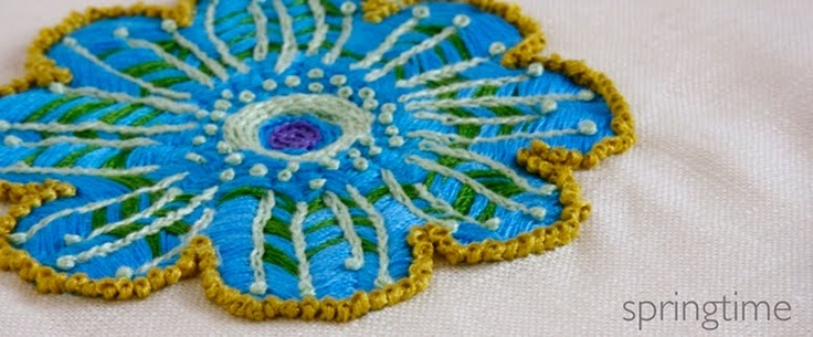 embroidered flower - blooming gorgeous!