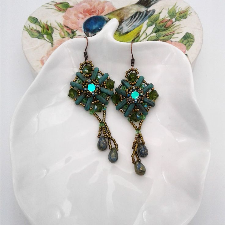 Beam Flower Earrings Tutorial/ Schema Orecchini di CrisEnCloo su Etsy