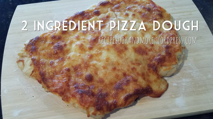 2 ingredient pizza dough - seriously just 2 ingredients! Customize with your fave pizza toppings or use for breadsticks, garlic bread, dessert pizza, and more.