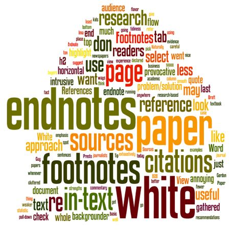 Footnotes or endnotes in a white paper?