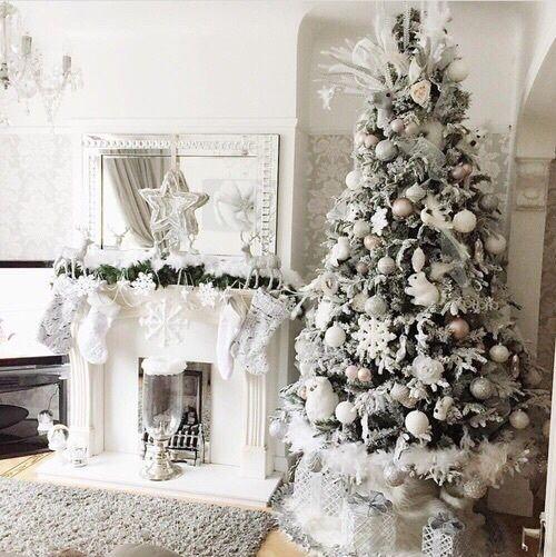 Christmas. New Year. Winter. Christmas Tree. Fireplace