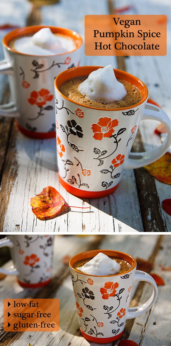 Make this Vegan Pumpkin Spice Hot Chocolate as low in fat and sugar-free as you like.
