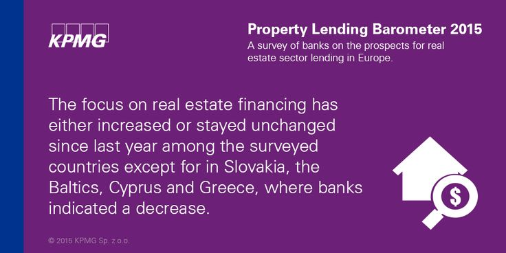 The focus on #realestate financing has either increased or stayed unchanged since last year among the surveyed countries except for #Slovakia, the Baltics, #Cyprus and #Greece, where banks indicated a decrease  #KPMG #Property #KPMGPoland  .