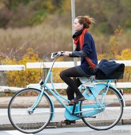 Fashionably riding a bike