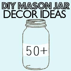 50+ DIY Mason Jar decor ideas! Many of these would be beautiful as wedding decorations--or fun for a summer party--as well!