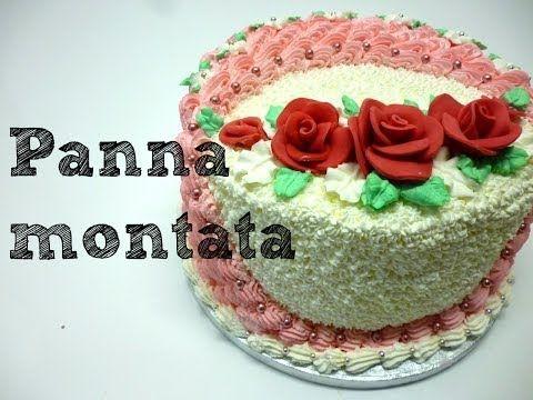 Torta decorata con panna montata by ItalianCakes - YouTube