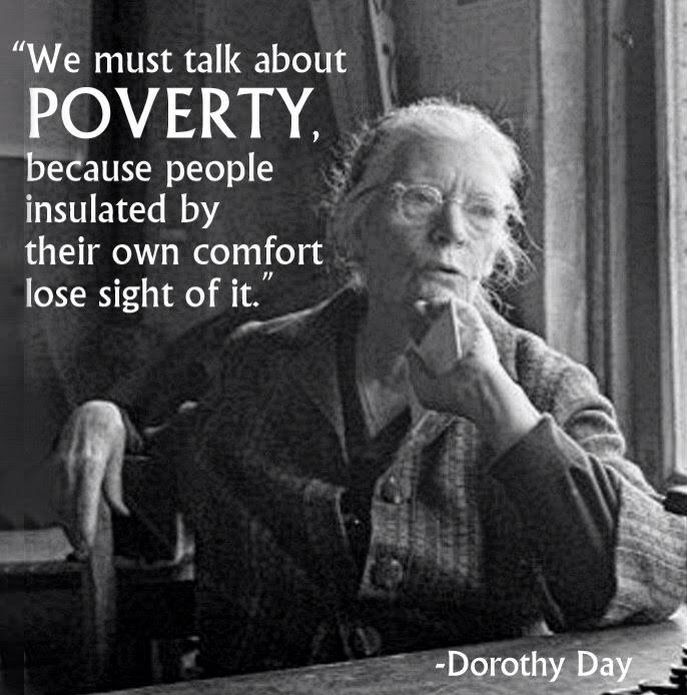 We must talk about poverty..:
