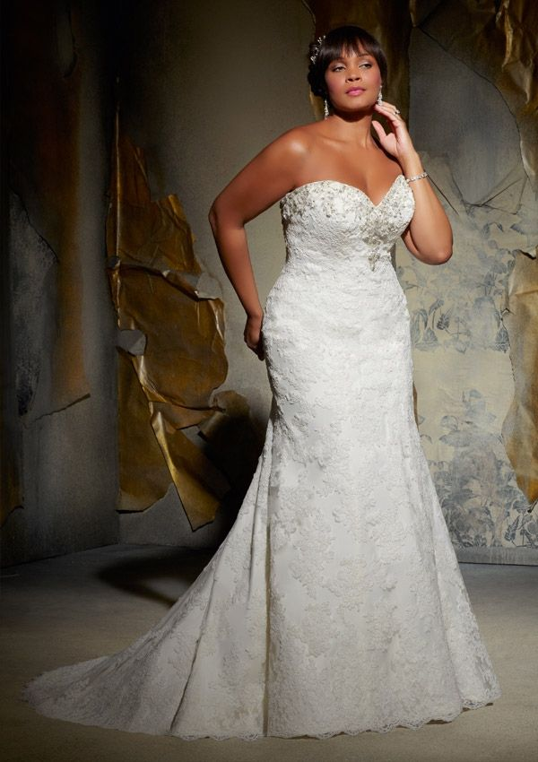 Fabulous Beautiful Mori Lee Julietta wedding dress style featuring a sweetheart strapless neckline and fitted A Line skirt from BestBridalPrices