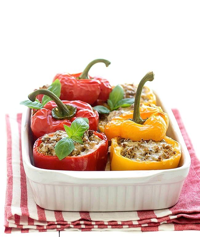 Quinoa stuffed bell peppers are a great change from the traditional stuffed bell pepper. A delicious, effortless and full of flavor meal.