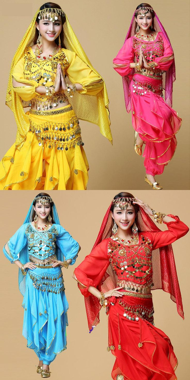 2017 New Lady Belly Dance Costume Bollywood Costume Indian Dress Bellydance Dress Womens Belly Dancing Costume Sets 6 Color