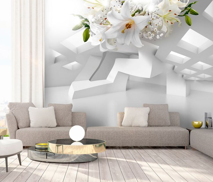 "Fotomural decorativo ""Abstract Mirage"" opticamente aumenta el interior y queda precioso en los espacios minimalistas ღ"