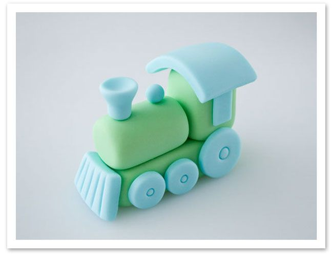 How to make a fondant train cake topper on http://www.chickabug.com/blog