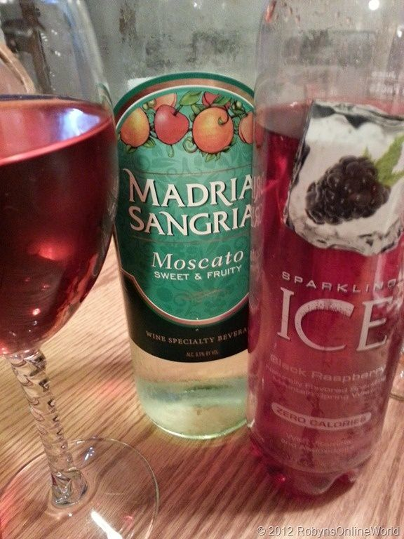 Moscato Cocktail #2 - Mix 1 part Sparkling Ice Black Raspberry with 1 part Madria Sangria Moscato