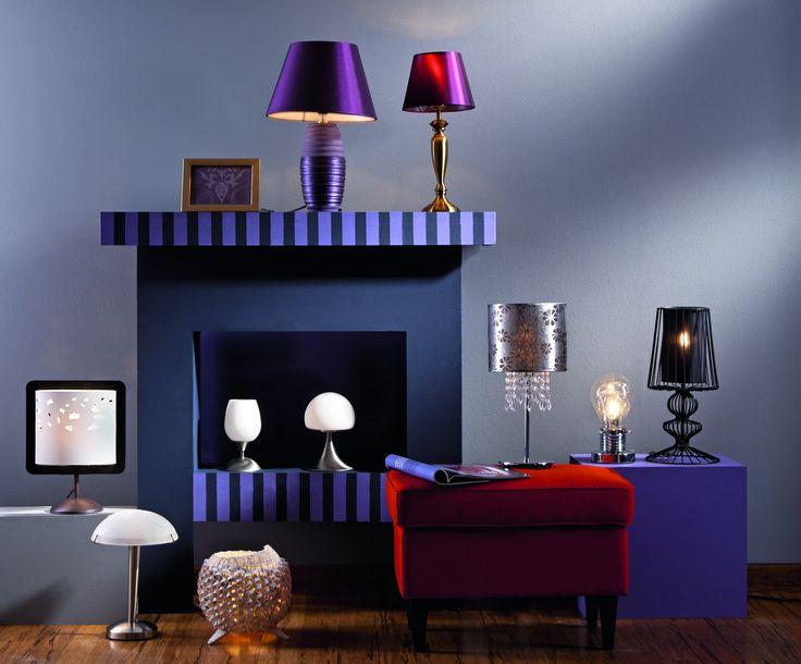 ceramic lamp #livingroom #salon #light #obipolska #violet #elegant