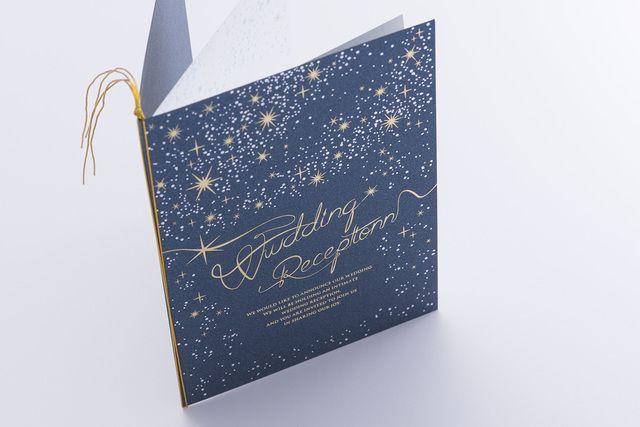 ナイトウエディング、1.54次会用 星空の招待状