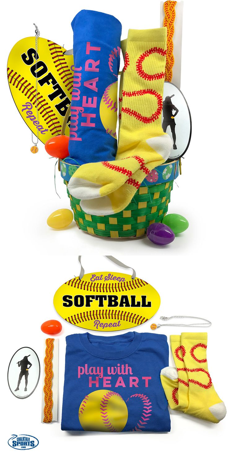 79 best sports easter baskets images on pinterest easter baskets our softball easter baskets are a total home run treat your favorite softball player to negle Gallery