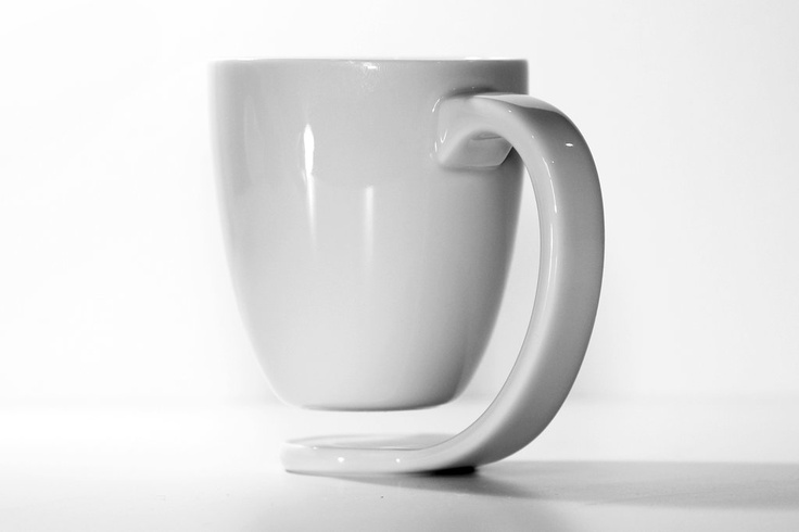 The floating mug. no more coffee rings on your table