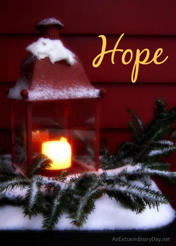 On the first Sunday of Advent we light one candle, the candle of hope and give thanks that Jesus is our true hope.