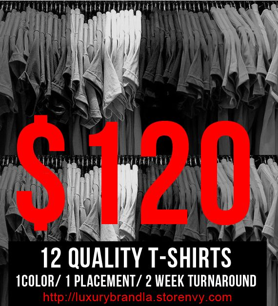 Custom Screen Printed T-shirts for Schools, Business, Fundraisers, & Special Interest Groups 12pcs min $120 via @shopseen