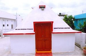 Sai krishna Pyramid Meditation Center  year of construction : 2010 size : 12ft x 12ft (roof top) | capacity : 24 persons cost incurred :  75,000 | type of structure : RCC timing : 6AM-9PM, Open for Public Use technical support : Srinivasa Rao, +91 94907 90262 contact : Bandhi Nagaiah, mobile : +91 99083 73944 address : H.no 10, Meerpet, Gandhi nagar, Saroor nagar, Hyderabad http://www.pyramidseverywhere.org/pyramids-directory/telangana/r-r-district  #Pyramid #Pyramids